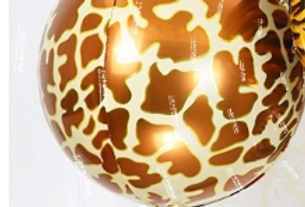 "TBS Foil - Giraffe Animal Print Balloon 22"""