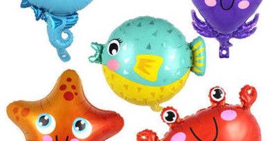 TBS Foil - Under The Sea Creatures Foil Balloon 5pcs/Set