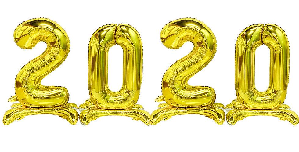 "TBS Foil - 16"" 2020 stand Balloon"