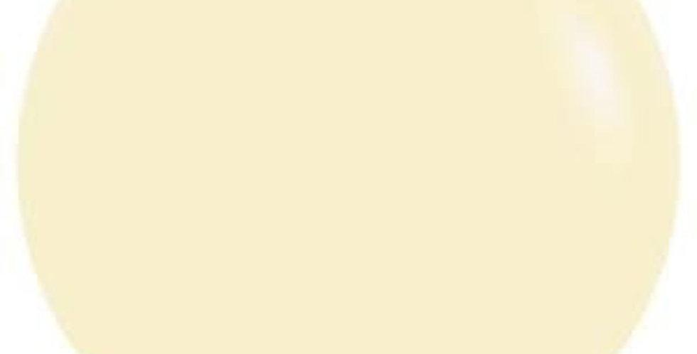 """TBS Latex-24"""" Matte Pastel Yellow Round Balloon"""