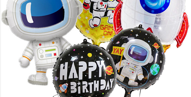 TBS Foil - Astronaut Balloon Set of 6