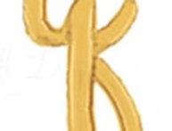 "TBS Foil - 18"" q Script style Gold Balloon"