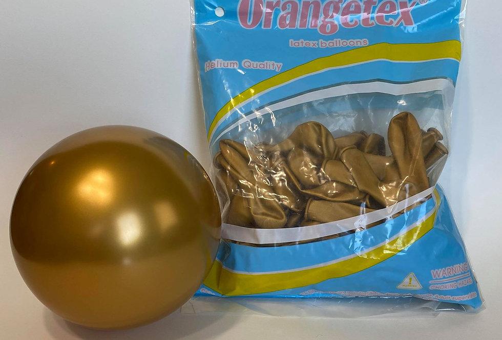 """TBS Latex - 5""""Metallic Gold Balloon"""