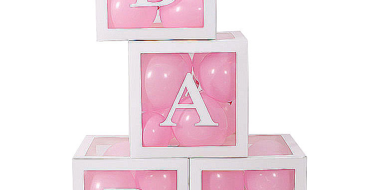 BABY White Balloon Box