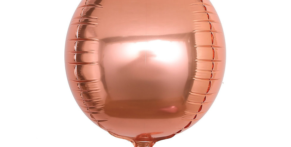 TBS Specialty-Rose Gold Orbz Balloon 22""