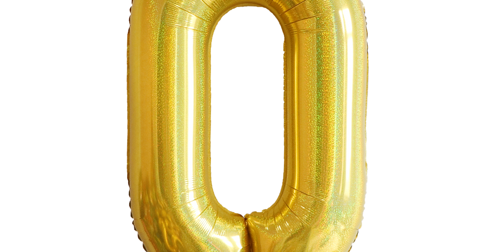 "TBS Foil - 40"" Number Foil Gold Balloon0"