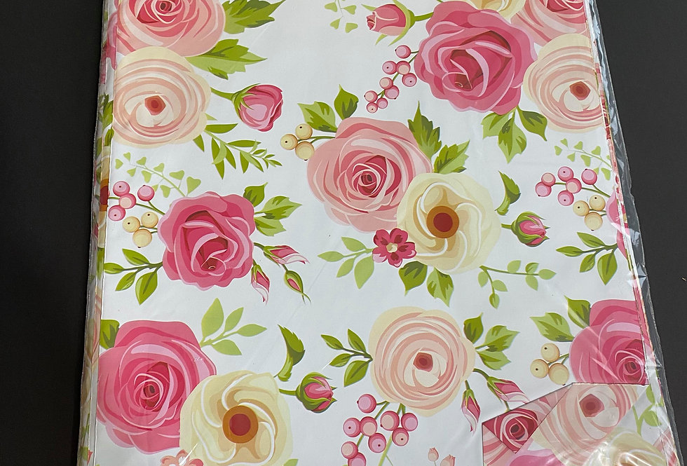 TBS Accessories_100pcs Poly Mailer_Pink Flowers
