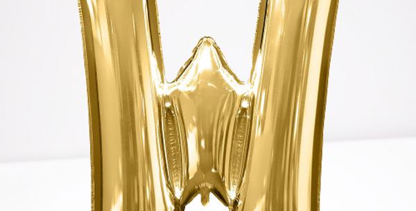 """TBS Foil - 16"""" W Gold Balloon"""