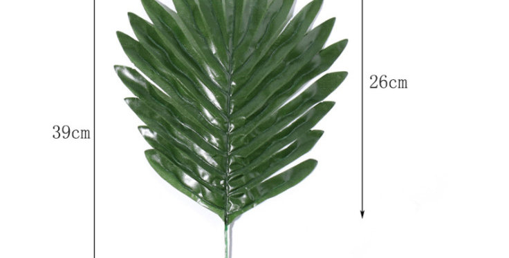 TBS Accessories - Fan Palm Fake Tropical Leaves_Green