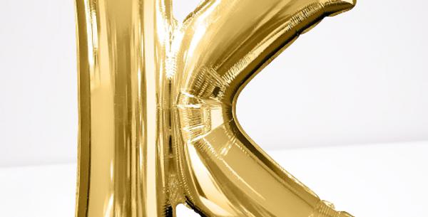 """TBS Foil - 16"""" K Gold Balloon"""