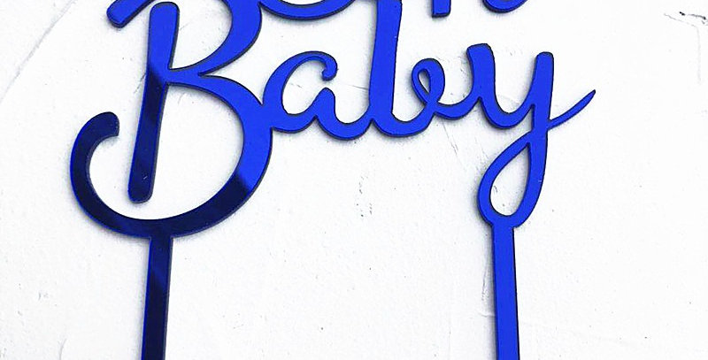 TBS Accessories - Acrylic Cake Topper Oh BabyBlue