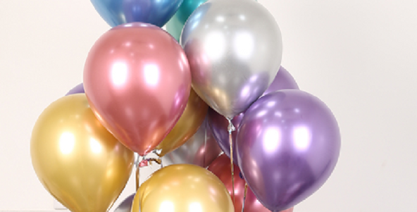 "TBS Latex - 10"" Mix Chrome Balloon"