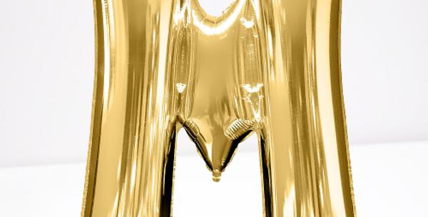 "TBS Foil - 16"" M Gold Balloon"