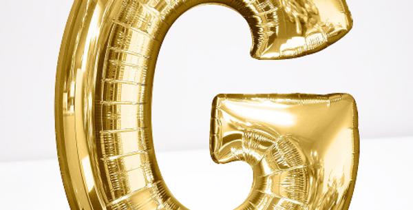 """TBS Foil - 16"""" G Gold Balloon"""