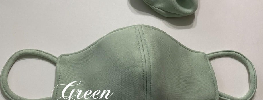 Essential Mask Green with Scrunchie