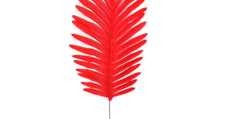 TBS Accessories - Fake Tropical Leaves_Red