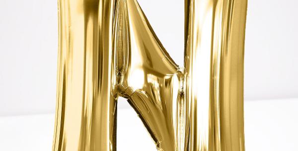 """TBS Foil - 16"""" N Gold Balloon"""