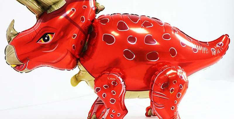 TBS Foil - Red Standing Foil Dinosaur Balloon