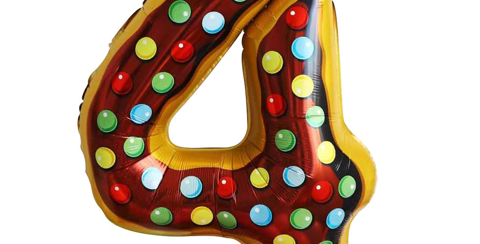 "TBS FOIL- 34"" Candy/Donut Number Foil  Balloon #4"