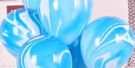"""TBS Latex - Agate Pastel Balloon 12""""Blue"""