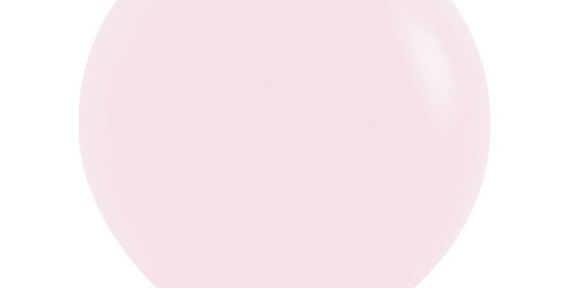 "TBS Latex-24"" Matte Pastel Pink Round Balloon"