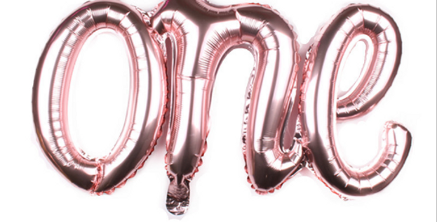 TBS Foil - One-Rose gold Balloon