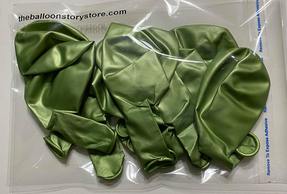 TBS Latex-Green Chrome  Balloons 10pcs/pacl