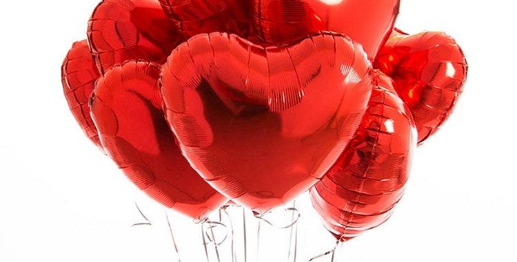 "TBS Foil - 18""Red Heart Foil Balloons"