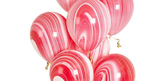 "TBS Latex - Agate Pastel Balloon 12""Red"