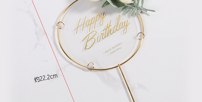TBS Accessories - HBD Acrylic Cake Topper With Iron Frame