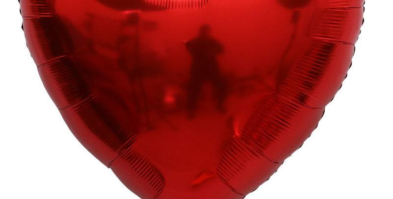 "TBS Foil - 32"" Giant Foil Heart Balloon_Red"