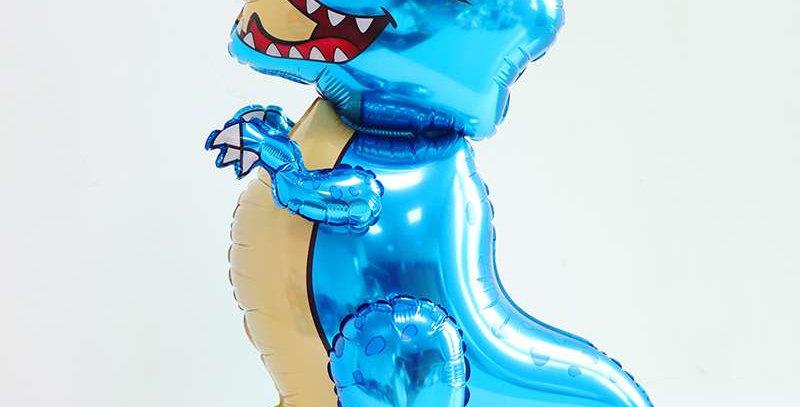 """TBS Foil - 26"""" Standing Foil Dinosaur Balloon Blue"""