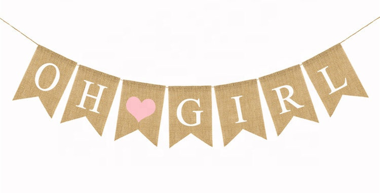 TBS Accessories- Oh Girl Burlap Banner