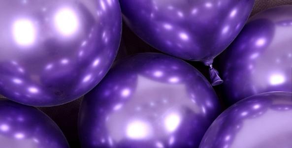 """TBS Latex - 10"""" Purple Chrome Balloon"""