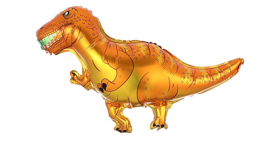 TBS Foil - Mini Dinosaur Foil Balloon Orange and yellow