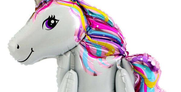 TBS Foil - 4D Foil Unicorn Balloon_ White