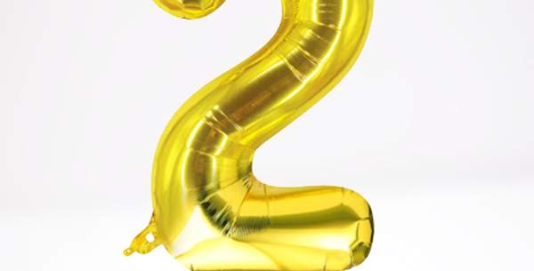 "TBS Foil - 32"" Stand #2 Balloon"