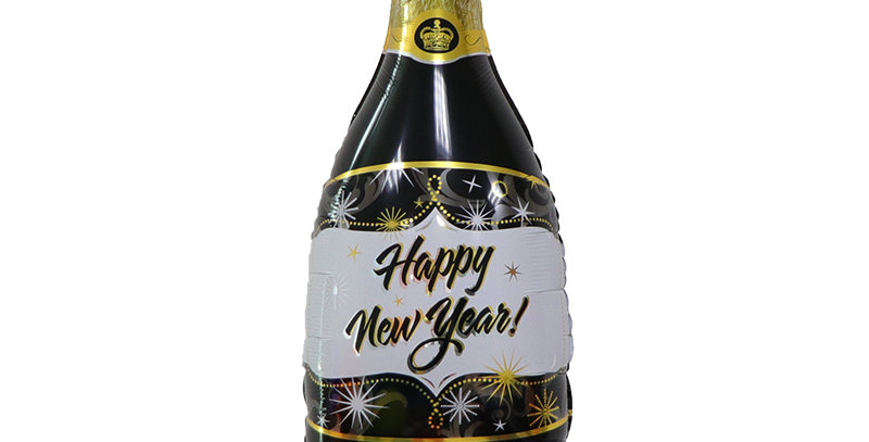 """TBS Foil - 40"""" Happy New Year Champagne Foil Balloons"""