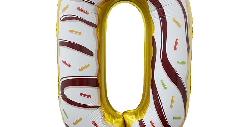 """TBS FOIL- 34"""" Candy/Donut Number Foil  Balloon #0"""
