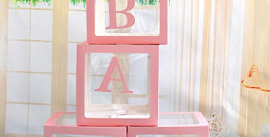 TBS Pink BABY Balloon Box