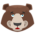 Brown Bear Head Smiling.png