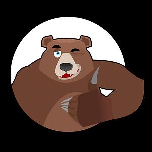 Brown Bear Black Circle Thumbs Up.png