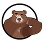 Brown Bear Black Circle Thumbs Up.png