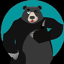 black grey bear circle turq.png
