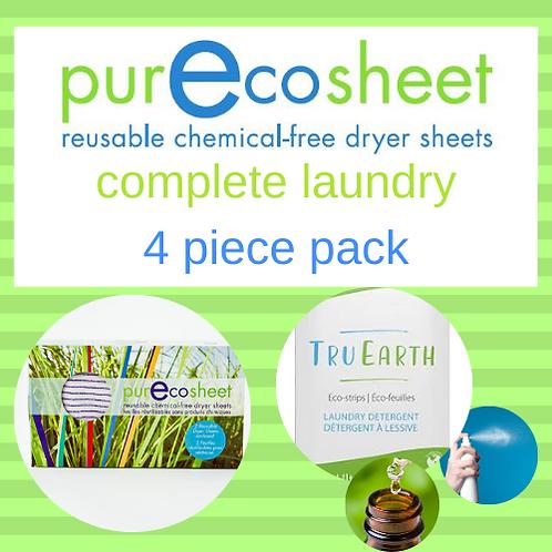 PurEcosheet Complete TruEarth Laundry 4 Piece Pack