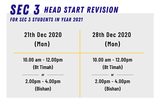 SG Physics Year-End Holiday Crash Course for Sec 3 students | Nov & Dec 2020