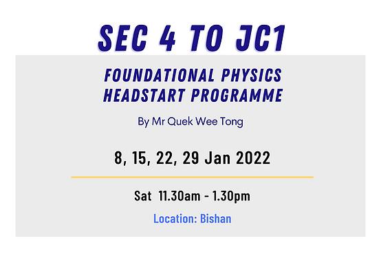 SG Physics School Holiday Revision Programme _ A Level and O Level (Nov & Dec 2021)