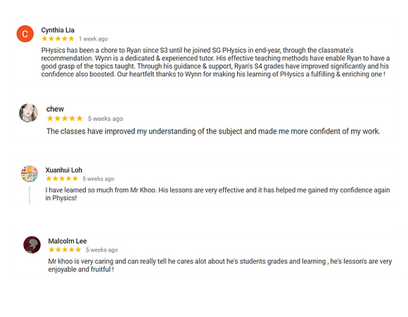 Physics tuition   5-star reviews from parents and students