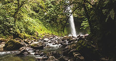 Hiking to Waterfall in Costa Rica