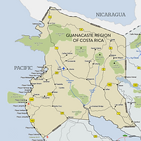 Costa Rica Guanacaste Map